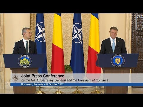 Bucharest, NATO Secretary General with the President of Romania