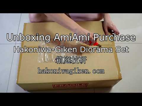 Unboxing AmiAmi Haul - HAKONIWA-GIKEN [箱庭技研] Collection Base + Diorama Sheets