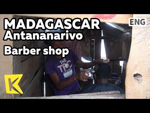 【K】Madagascar Travel-Antananarivo[마다가스카르 여행-안타나나리보]머리 땋는 여성과 칸막이 이발소/Barber shop/Hair Style/Hair cut