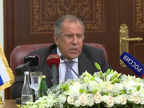 Пресс-конференция мининдел России и Катара - Russian & Qatar FM Joint Press Conference