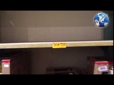 5-Shelf Vintage Wood Display Cabinet