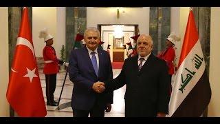 ماذا دار بينهما؟ رئيس الوزراء التركي يلتقي نظيره العراقي واتفاق على تسوية معسكر بعشيقة-تفاصيل