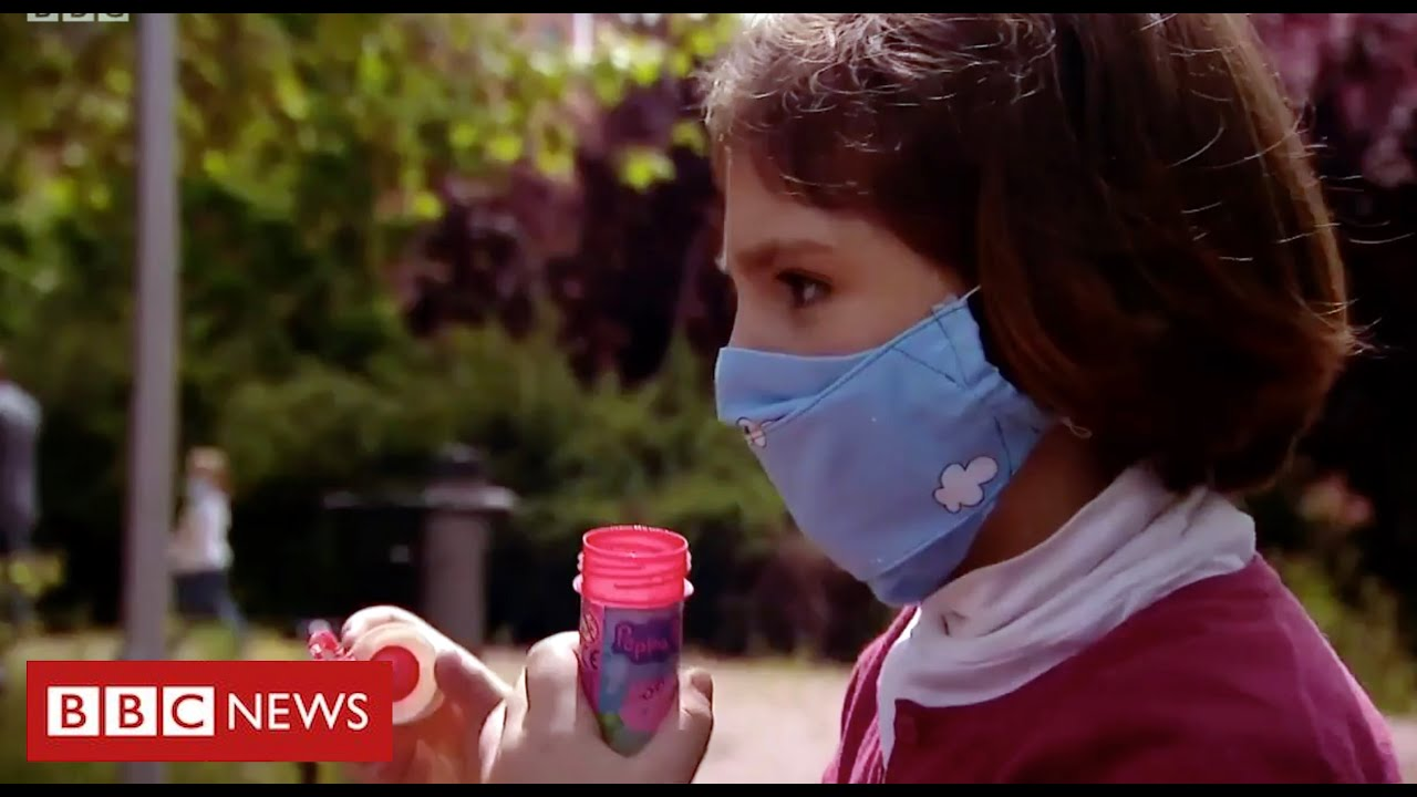 Coronavirus:  children in Spain leave homes for first time in 6 weeks - BBC News