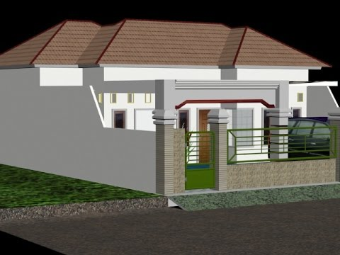 Desain Rumah Minimalis Dengan 3ds Max  tutorial membuat design rumah dengan 3dsmax part1