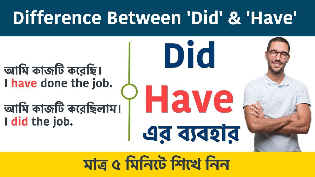 Have এবং Did এর ব্যবহার || Difference Between Did And Have || Bangla to English Speaking Course
