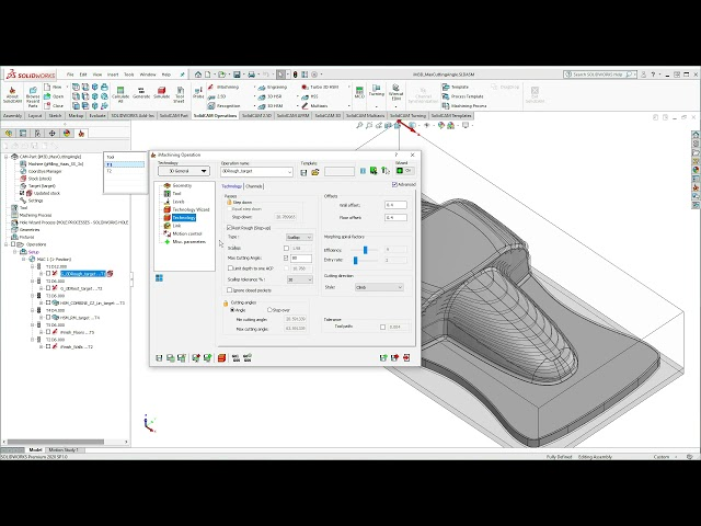Max Cutting Angle Step-up in iMachining 3D