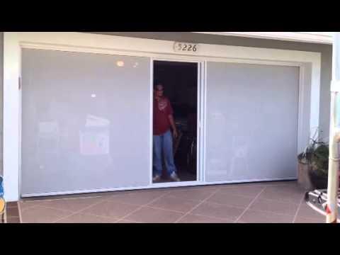 Lifestyle screens garage screen door youtube for 18 x 8 garage door screen