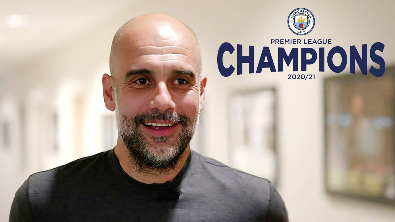 Pep Guardiola reacts | Manchester City crowned Premier League Champions