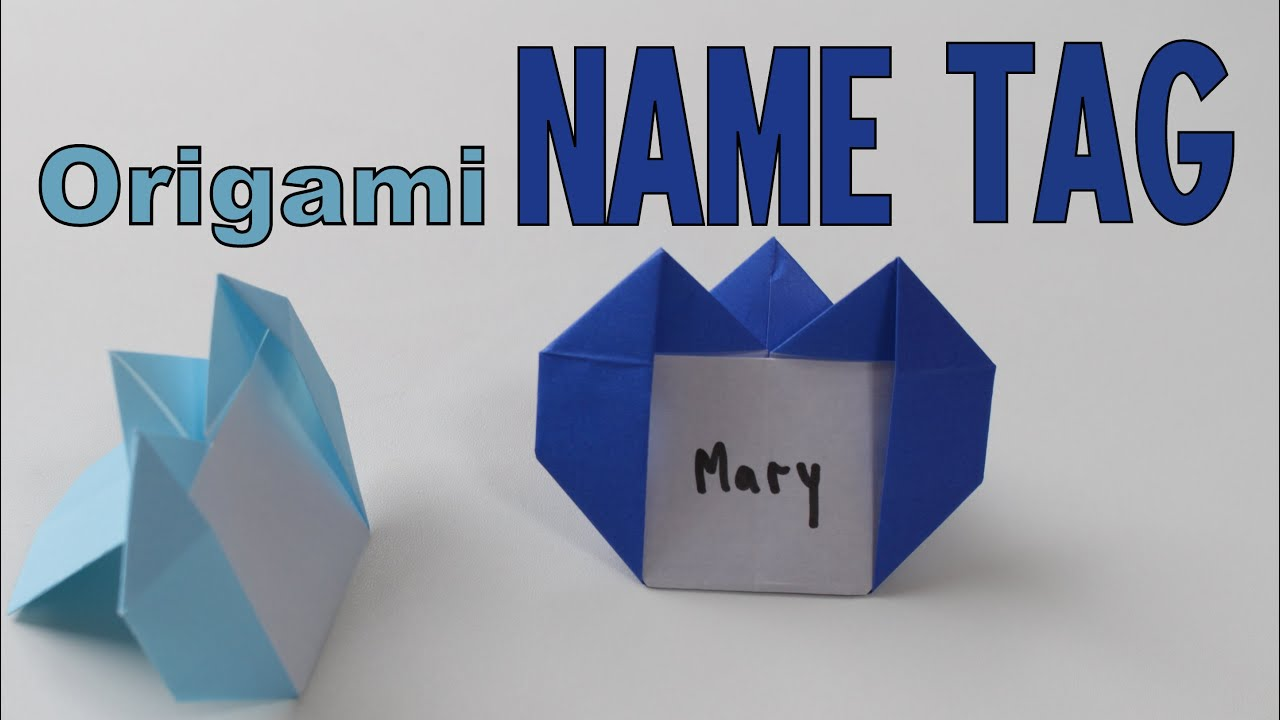 Origami How To Make A Name Tag