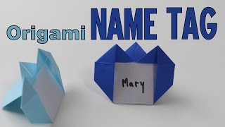 Origami - How to make a NAME TAG