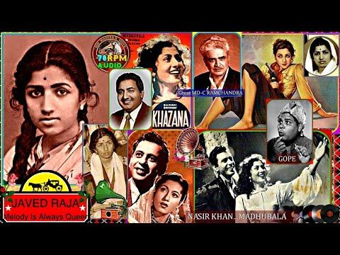 LATA JI & Rafi-(8 Master Pieces).Film-KHAZANA-{1951}(1.Kar De Zara Ishara.(2-Ae Chaand.(3,MujheTumSe