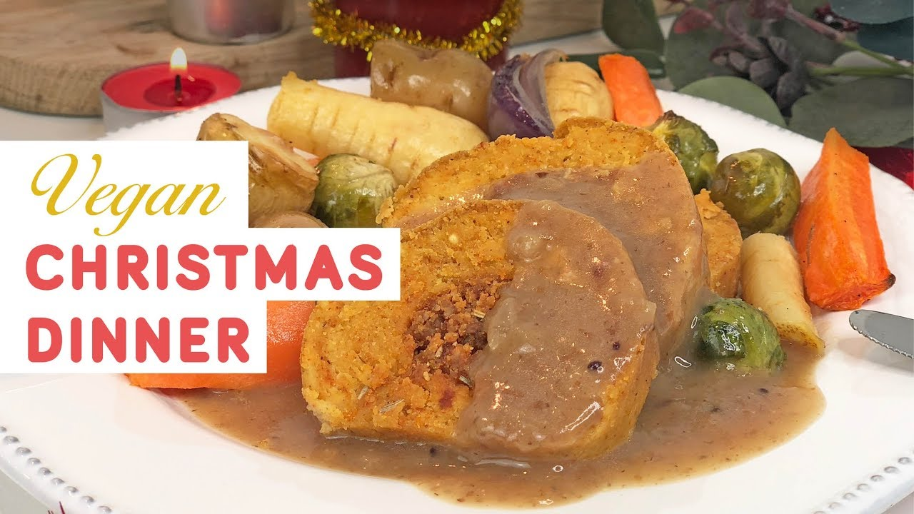 Free Christmas Dinner.Vegan Christmas Dinner With Cranberry Gravy Gluten Free