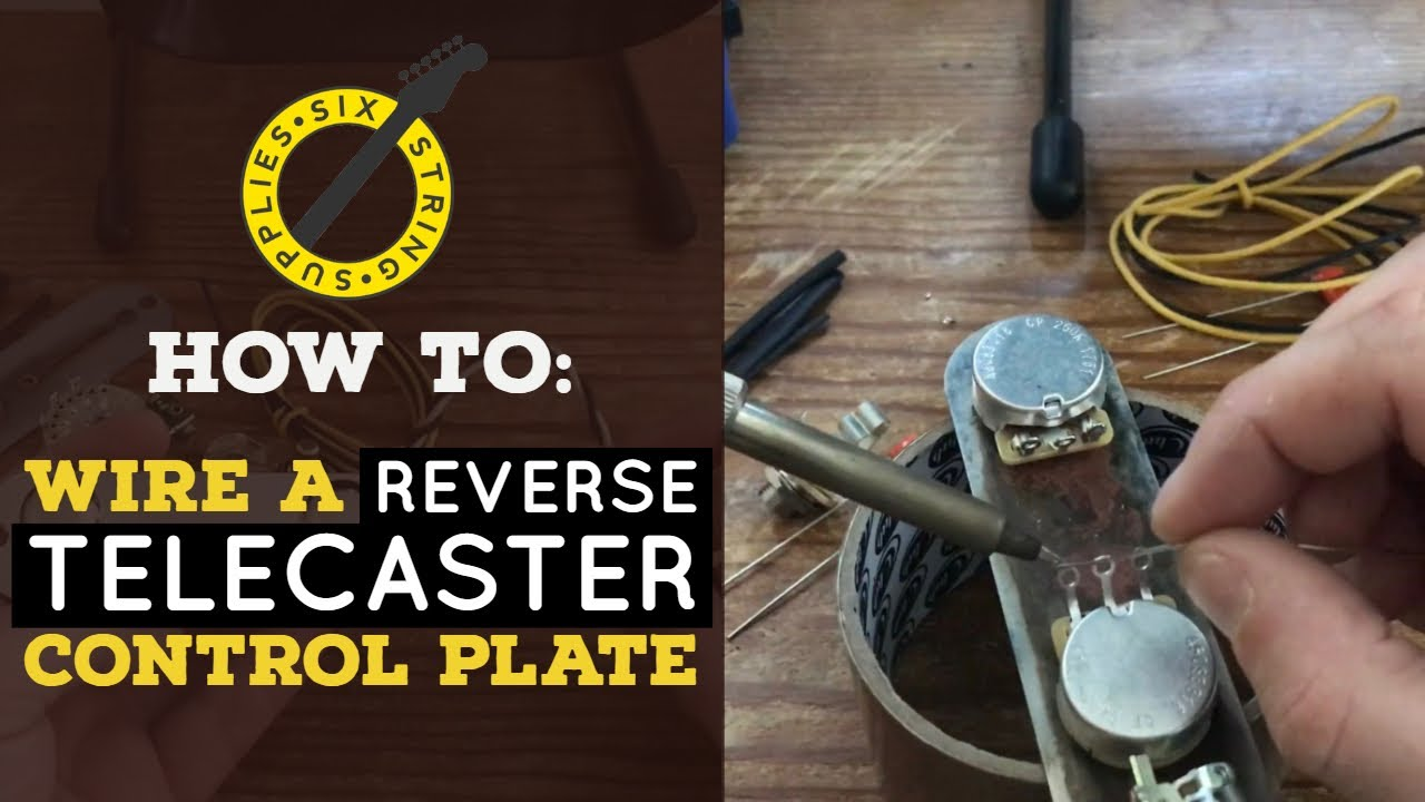 how to reverse telecaster control plate wiring youtube Telecaster Wiring Schematic how to reverse telecaster control plate wiring