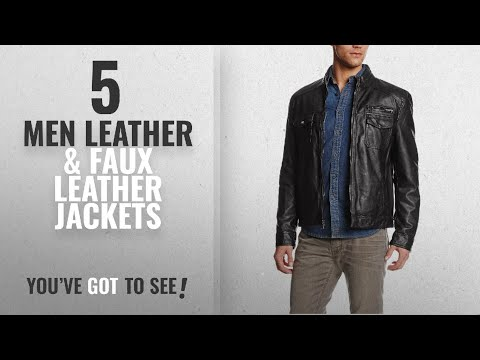Kenneth Cole Leather & Faux Leather Jackets [ Winter 2018 ] | New & Popular 2018