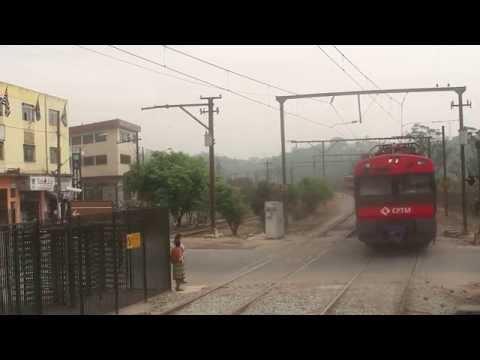 Railway Action at Rio Grande Station in Sao Paulo, Brazil