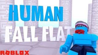 HUMAN FALL FLAT IN ROBLOX !!! Sharky Roblox w/ Little Kelly