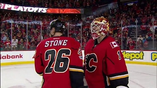 Flames salute fans after clinching playoff berth