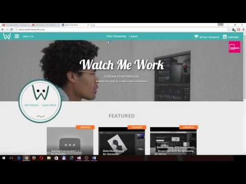 Using YouTube Live on WatchMeWork.com