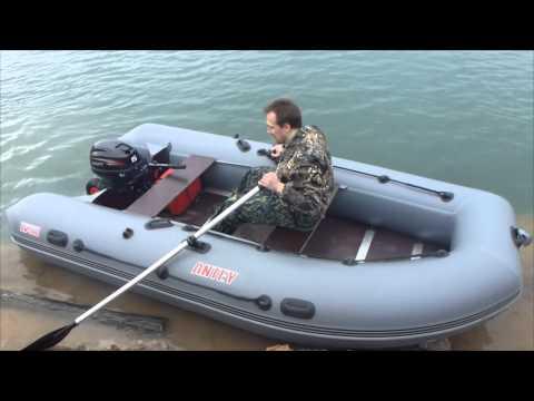 Первый запуск Hidea 15 на лодке Антей 380