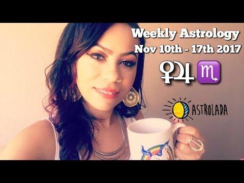 "Weekly Astrology Forecast for Nov 10th - 17th & Celebrity ""Coffee Talk"" W/Astrologer April!"