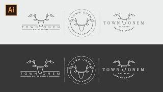 Minimal Logo Tasarımı  Adobe Illustrator Dersleri