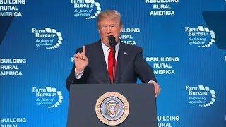 President Donald Trump speaks at American Farm Bureau Federation's convention | ABC News