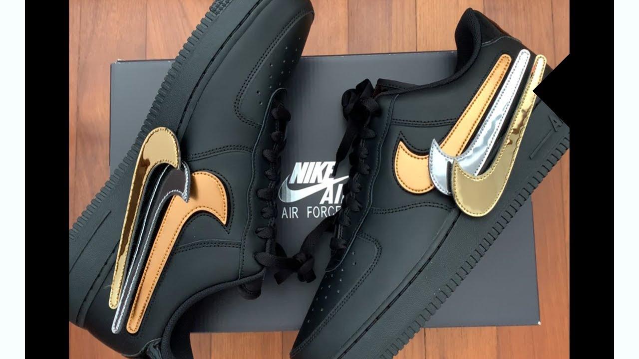 Nike Air Force 1 Metallic Swoosh Pack