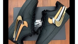UNBOX: Nike Air Force 1 Metallic Swoosh Pack | MELLOWVIN