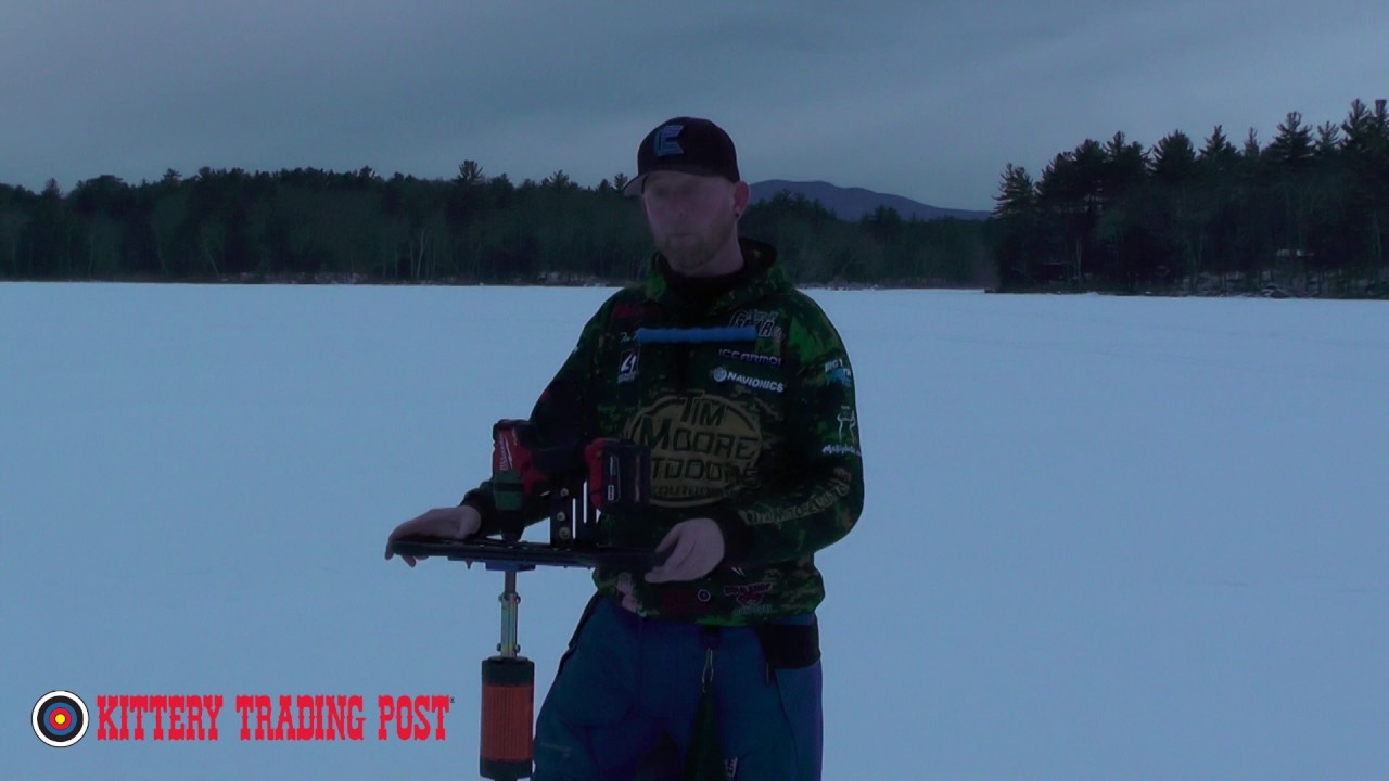 ktp ice fishing pro tip using your auger to clear slush