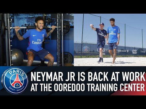 NEYMAR JR IS BACK AT WORK AT THE OOREDOO TRAINING CENTER