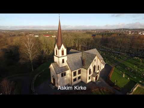Aerial presentation Of Askim Norway