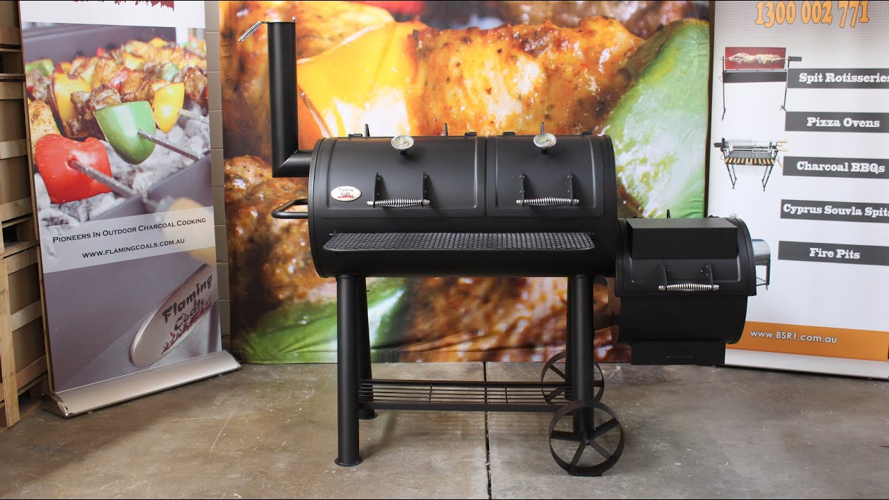 Flaming Coals Texas fset Smoker Review