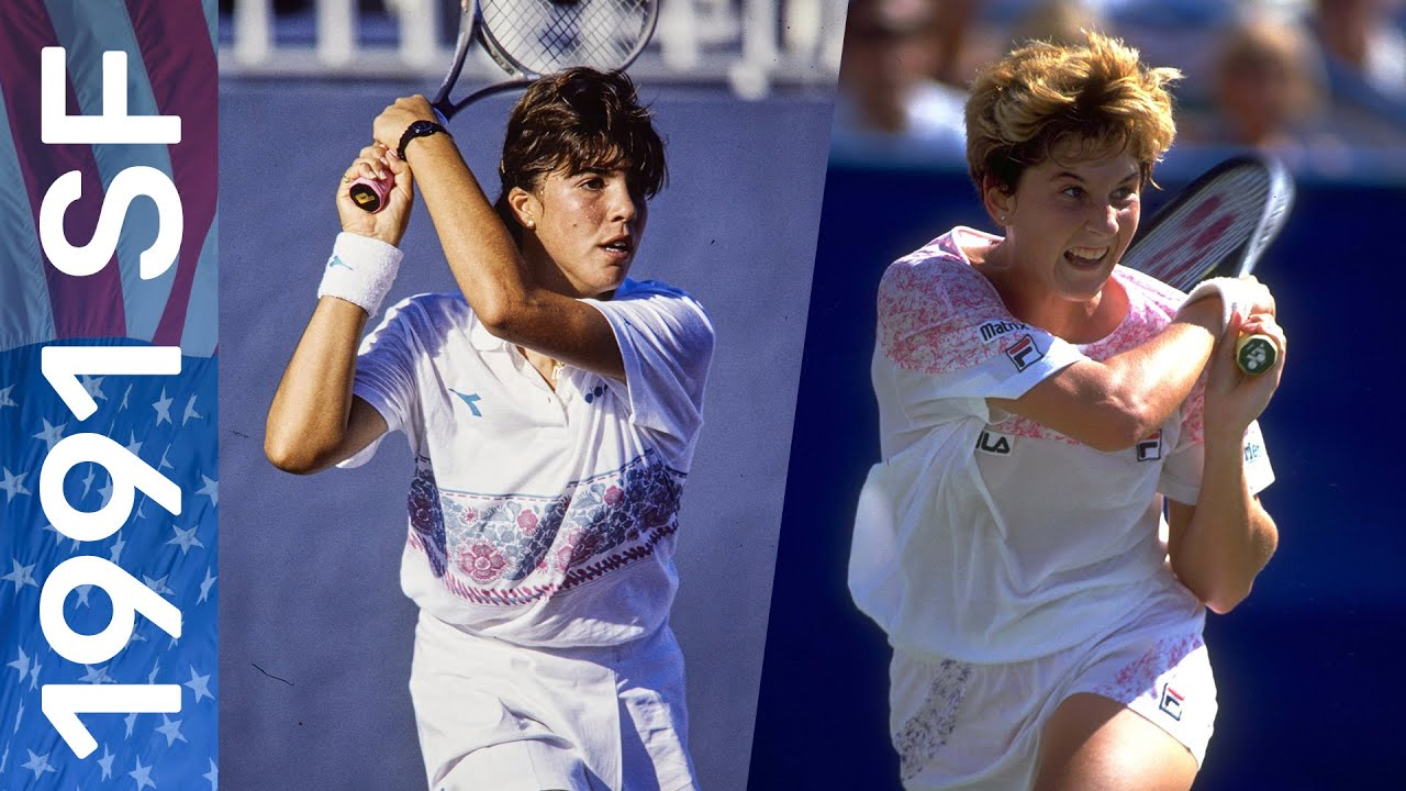 Monica Seles vs Jennifer Capriati in the match that changed women's tennis!  | US Open 1991 Semifinal - YouTube