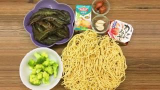 妹豬媽之「上湯蝦球伊麵」-shrimp ball Noodles