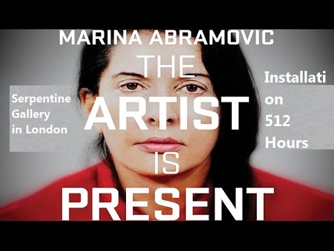 5 Minutes with Marina Abramović at Serpentine Gallery in London Installation 512 Hours bbc