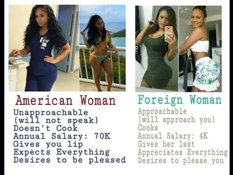 American Women vs Foreign women Part II The Remake