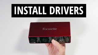 Scarlett 2i2 Setup - Driver Install and Registration