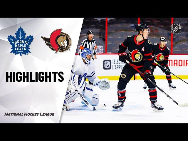 NHL Highlights | Maple Leafs @ Senators 01/15/21