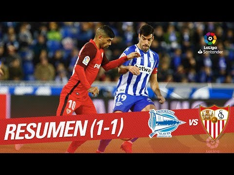 Resumen de Deportivo Alavés vs Sevilla FC (1-1)