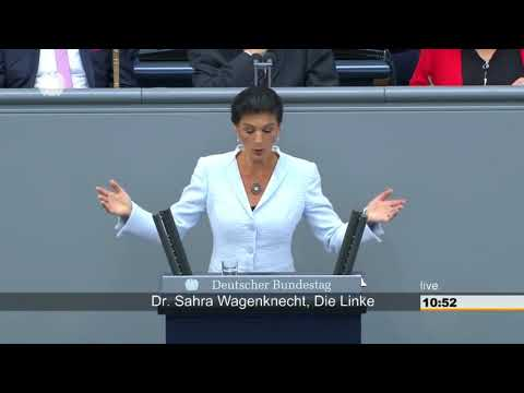 Sahra Wagenknecht DIE LINKE: Gegen völkerrechtswidrige Kriege und Wettrüsten