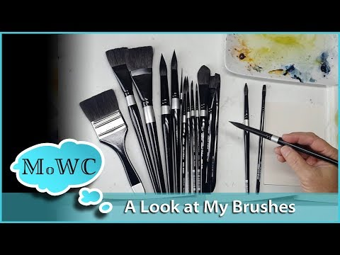 A Look at the Watercolor Brushes I'm Using