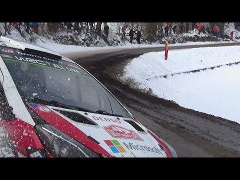 Rallye Monte Carlo 2018 day 3 ES 11 crash Lappi  and crash camera