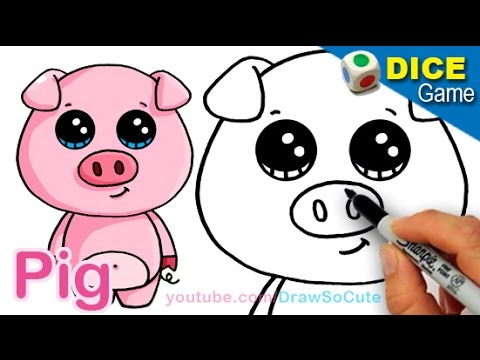 How to draw a cartoon pig cute and easy step by step youtube