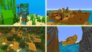 Mega RZADKIE Rzeczy w Minecraft! Wioska na Bagnach! Latający Statek!