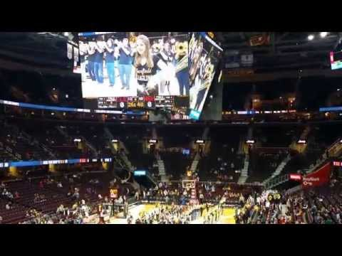 James A. Garfield Marching Pride Cleveland Cavaliers Pregame Show 12-1-15