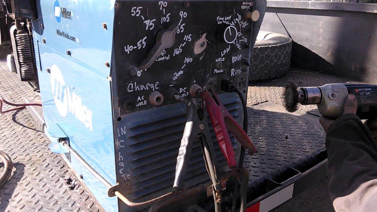 Miller welder generator test run miller aead 200le welder - Is it bad to run a generator out of gas ...
