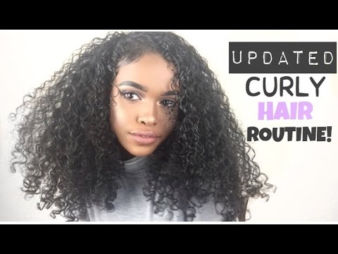 UPDATED CURLY HAIR ROUTINE | NO FRIZZ!