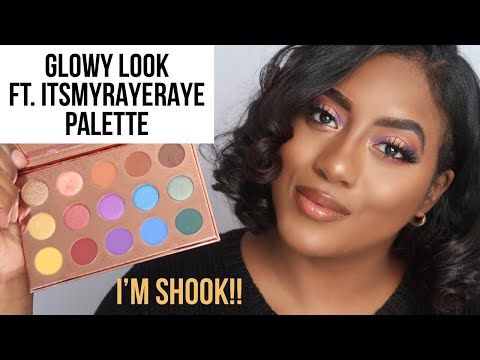 GLOWY LOOK USING  ITSMYRAYERAYE X BH COSMETICS PALETTE REVIEW thumbnail