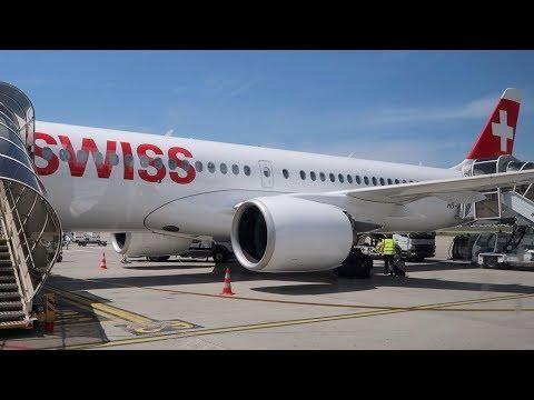 My First Flight On The A220/CS300. SWISS Business Class, Geneva To London