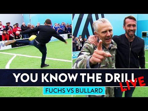 Hit It As Hard As Fuchs Challenge!   You Know The Drill   Christian Fuchs vs Jimmy Bullard